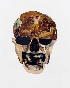 Kate Gottgens   Vanitas IV (I can't breathe)   2020   Collage on Paper   76 x 56 cm