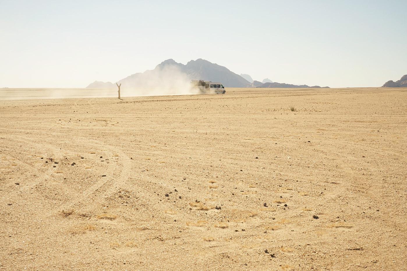 "Margaret Courtney-Clarke | ""Hope in a Sandstorm"", Namib Desert, July, 2018 (Detail of Triptych) | 2018 | Giclée Print on Hahnemühle PhotoRag | 33.5 x 50.5 cm | Edition of 6 + 2 AP"