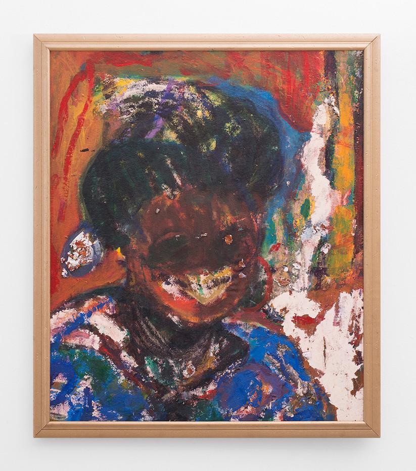Mostaff Muchawaya   Memory I   2017   Acrylic on Canvas   87 x 74 cm