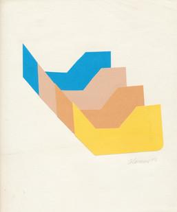 Trevor Coleman | Fugue | 1973 | Collage on Paper | 26 x 23 cm