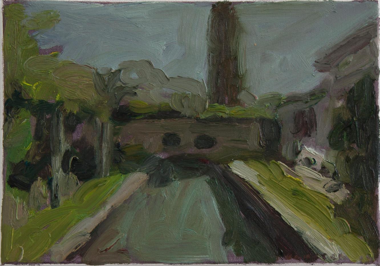 Anton Karstel | Property (Newlands) | 2014 | Oil on Canvas | 21 x 29.5 cm