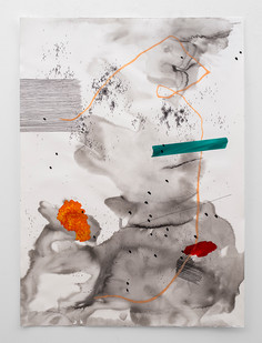 Mongezi Ncaphayi   Improvisation Day II   2018   Mixed Media on Cold Pressed Fabriano   140 x 100 cm