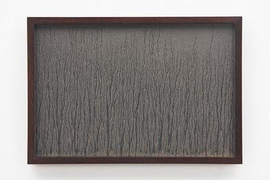 Richard Long | Untitled | 1989 | River Avon Mud on Black Card | 29 x 44 cm