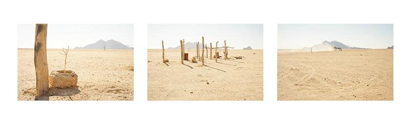 "Margaret Courtney-Clarke | ""Hope in a Sandstorm"", Namib Desert, July, 2018 | 2018 | Giclée Print on Hahnemühle Photo Rag | 33.5 x 50.5 cm Each | Edition of 6 + 2 A"
