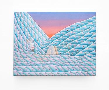 Marlene Steyn   ocean bed   2020   Acrylic on Linen   35 x 45 cm