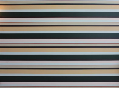 Georgina Gratrix | Olympia (Stripe Painting) | 2008 | Oil on Canvas | 130 x 188 cm