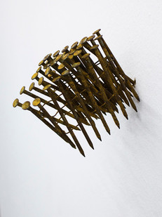 Ruann Coleman   Nailed II   2015   Oxidised Steel   7 x 8.5 x 6 cm