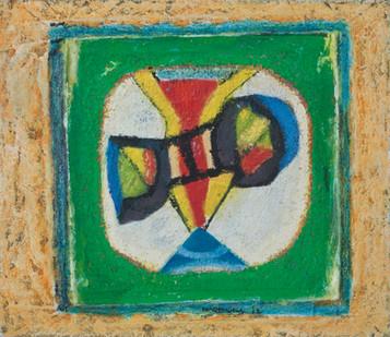 Louis Maqhubela | Morning 1 | 2012 | Mixed Media on Canvas | 33.5 x 38 cm