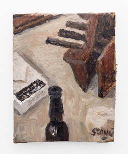 Simon Stone | Still Life with Vice | 2018 | Oil on Cardboard | 17 x 13.5 cm
