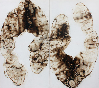 Sandile Zulu | Artoms Archetype Forms Case 11 | 2012 | Fire, Water, Air and Earth on Canvas | 160 x 145 cm