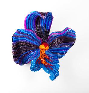 Frances Goodman | Violet Cream | 2016 | Acrylic Nails, Foam, Resin and Silicone Glue | 65 x 63 x 41 cm