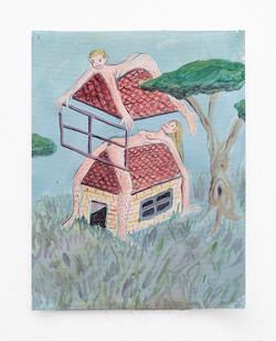 Marlene Steyn   Protector of the single story   2018   Oil on Canvas   30.5 x 23 cm