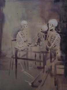 Kate Gottgens | Skeletons | 2015 | Oil on Canvas | 90 x 68.5 cm