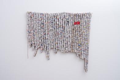 Wallen Mapondera | Window to the Diaspora | 2017 | Mixed Media | 153 x 143 cm
