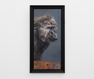 Johann Louw | Bobbejaan op Paneel | 2017 | Oil on Panel | 78 x 34 cm