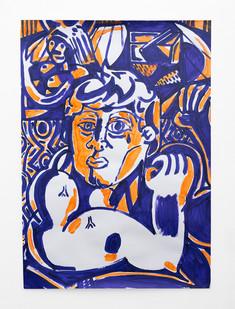 Callan Grecia   Strong Man 5   2021   Acrylic on Bristol   84 x 59.9 cm