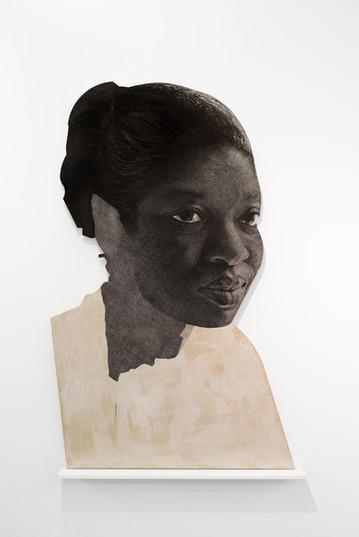 """Luyanda Zindela   """"Ngizokuthandazela"""" (I will pray for you)   2021   Acrylic Paint Marker on Pine Board   200 x 130 cm"""