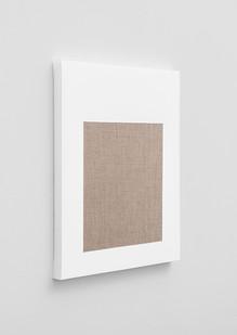 Pierre Vermeulen | Gesso Space nr 2 (Side View) | 2020 | Gesso on Belgian Linen | 50 x 40 cm