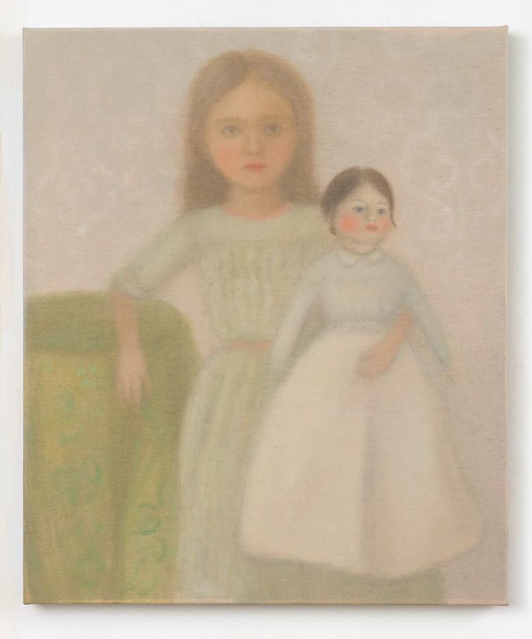 Chechu Álava | The doll | 2019 | Oil on Canvas | 55 x 46 cm