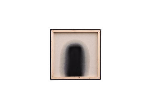 Alexandra Karakashian | Passing Through X | 2020 | Used Engine Oil, Black Pigment and Sunflower Oil on Canvas | 61 x 60.5 cm