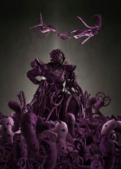 Mary Sibande | The admiration of the purple figure | 2013 | Archival Digital Print | 150 x 110.5 cm