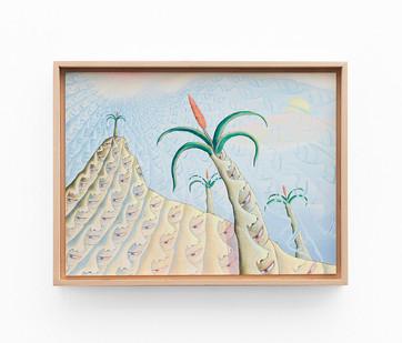 Marlene Steyn   cactime   2020   Acrylic on Canvas   29.5 x 40 cm
