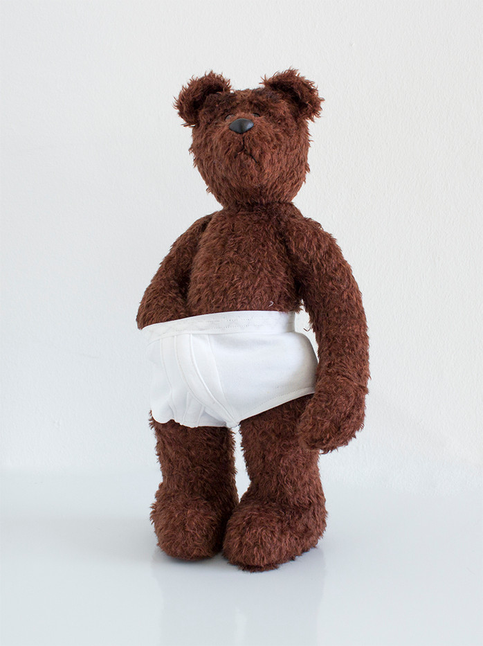 Ed Young | Porridge | 2015 | South African Mohair Traditional Teddybear | 42 cm | Edition of 3 + 1 AP