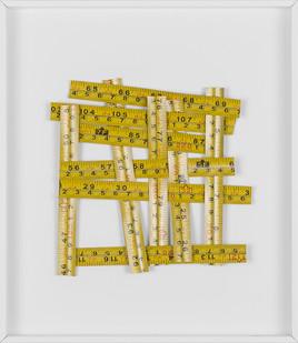 Ruann Coleman | Misobservation (cm) | 2017 | Measuring Tapes | 27 x 23 cm