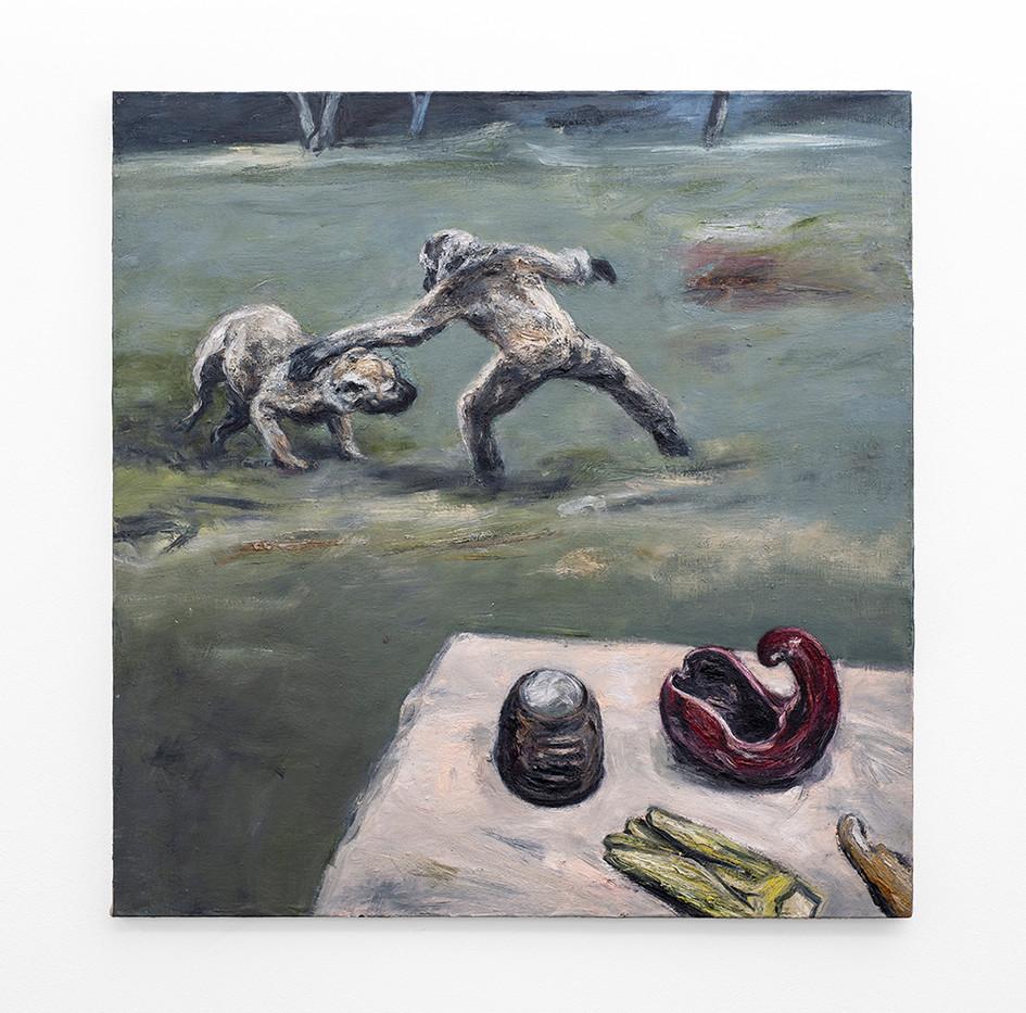 Johann Louw | Kastenades, met stillewe | 2020 | Oil on Board | 126 x 122 cm