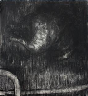 Johann Louw   Dooie Hond   2014   Charcoal on Paper   124 x 122 cm
