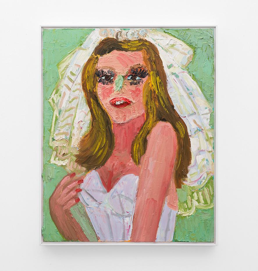 Georgina Gratrix | Reluctant Bride | 2018 | Oil on Canvas | 100 x 80 cm