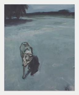 Johann Louw   Hond   2013   Oil on Board   158 x 122 cm