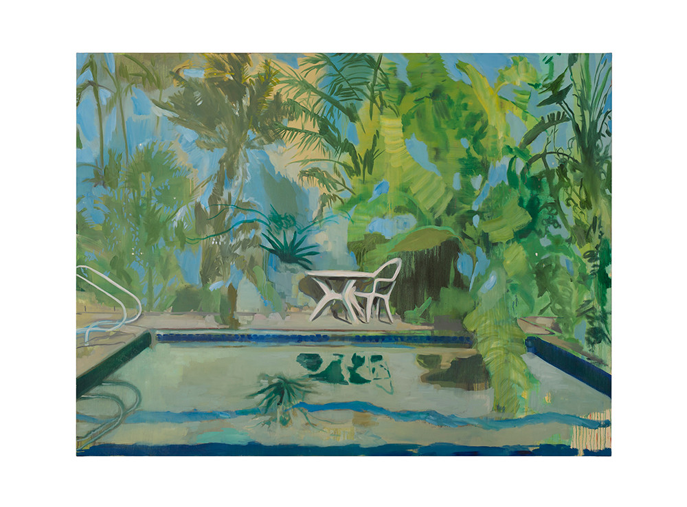 Kate Gottgens   Pool Club (Everything Here is Nice)   2017   Oil on Canvas   150 x 200 cm