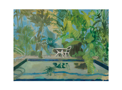 Kate Gottgens | Pool Club (Everything Here is Nice) | 2017 | Oil on Canvas | 150 x 200 cm