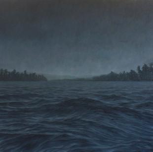 Jake Aikman | N10.841736, W85.873802 | 2013 | Oil on Canvas | 165 x 165 cm