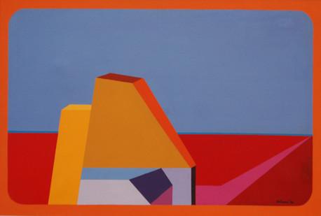 Trevor Coleman | Structured Landscape III | 1974 | Acrylic on Canvas | 60 x 89 cm