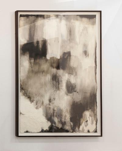 Alexandra Karakashian   Ground XII   2016   Oil and Salt on Primed Paper   213.5 x 136.5 cm