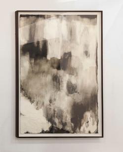 Alexandra Karakashian | Ground XII | 2016 | Oil and Salt on Primed Paper | 213.5 x 136.5 cm