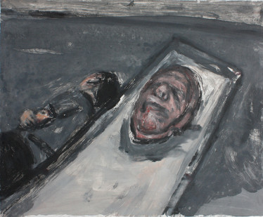 Johann Louw | Masker, Lêende Figuur | 2013 | Monotype | 58 x 70 cm