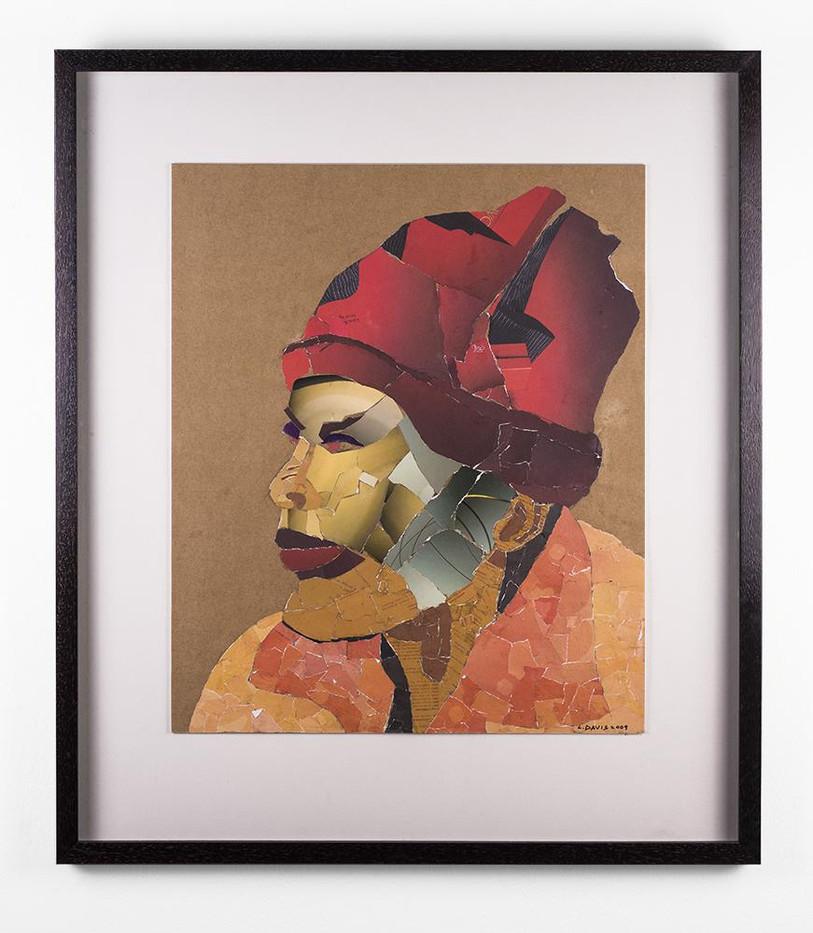 Lionel Davis | Mask 8 | 2009 | Collage on Paper | 59 x 48cm