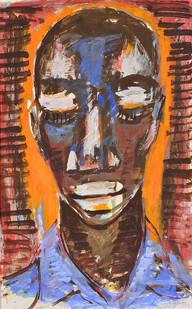 Gerard Sekoto | Young Man | 1959 | Gouache on Card | 49 x 32 cm