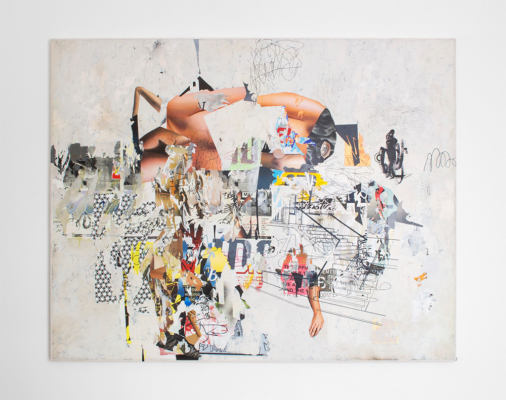 Asha Zero   Funi Cable   2016   Acrylic on Board   164 x 205 cm