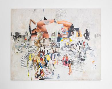 Asha Zero | Funi Cable | 2016 | Acrylic on Board | 164 x 205 cm