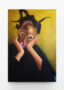 Mfundo Mthiyane   Songs of Asase Yaa 2   2021   Oil on Canvas   108.5 x 72 cm
