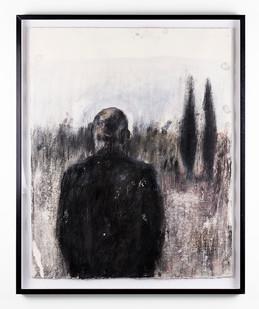 Johann Louw | Oppad na Silwerkruine | 2018 | Charcoal on Paper | 75.5 x 60.5 cm