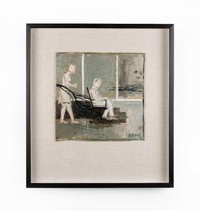 Simon Stone | Branch Room | 2020 | Oil on Cardboard | 28 x 28 cm