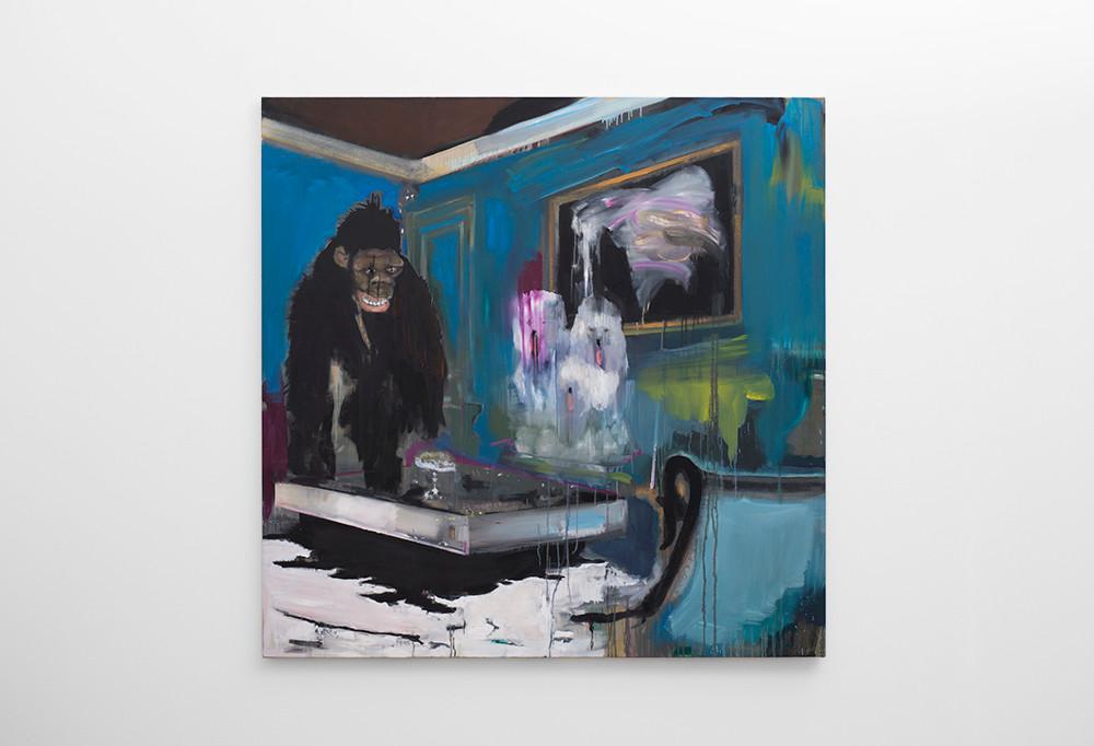 Kate Gottgens   Harvey   2017   Oil on Canvas   150 x 150 cm