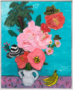 Georgina Gratrix | Miami Flowers | 2019 | Oil on Canvas | 100 x 80 cm