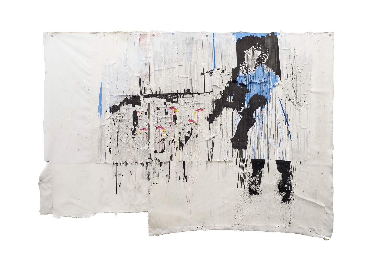 Gareth Nyandoro | Huku Pano | 2016 | Ink on Paper, Mounted on Canvas | 237 x 335 cm