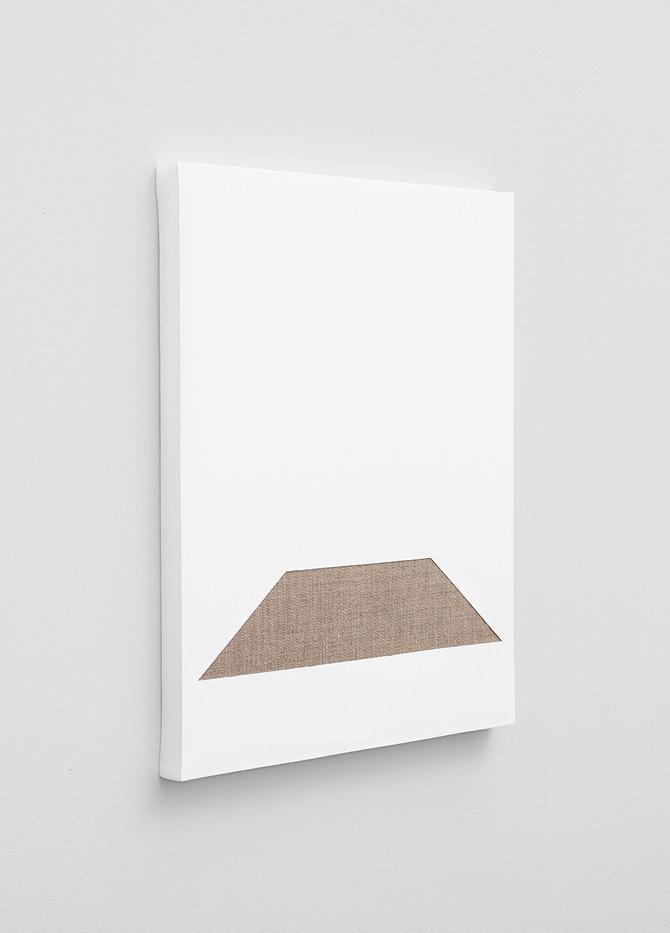 Pierre Vermeulen | Gesso Space nr 6 (Side View) | 2020 | Gesso on Belgian Linen | 50 x 40 cm